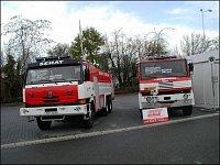 Expozica firmy SEHAT Poříčany, vlevo CAS 60 - T 815, vpravo CAS 24 - Praga