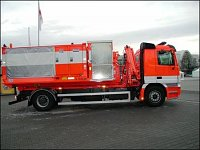 Kontejnerový automobil na podvozku Mercedes Actros s hadicovým systémem Hytrans