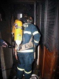 Požár bytu Tréglova ul.