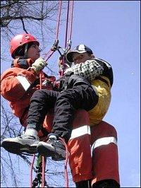 S hasičem na lanovce se vůbec nebojím.