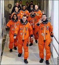 Posádka Columbie před startem. FOTO: I-DNES