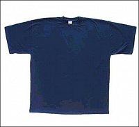 "<B>Triko ""krátký rukáv""</B> Materiál: 100% bavlna Barva: modrá Velikost: S – XXL Cena: cca"