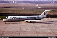 toto letadlo McDonnell Douglas DC-9-32 registrace YU-AJO spadlo na Suchdole