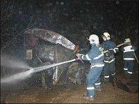 Požár maringotky