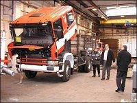 Rozestavěná CAS 24 - Scania 4x4 pro HZS Středočeského kraje
