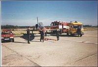 Asistence při zkouškách L39 – foto HZSP Aero