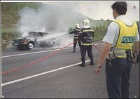 Požár Š100, D8, exit Nová Ves – foto HZSP Aero