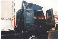 Požár Liazu 110, E55 Klíčany – foto HZSP Aero