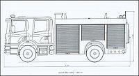 rozměrový náčrtek automobilu