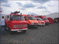 hasiči na volné ploše