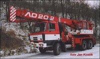 Tatra 815 EURO2 6x6 AD-20.2 s navijákem, ČKD jeřáby, HZS Plzeňského kraje, stanice Tachov