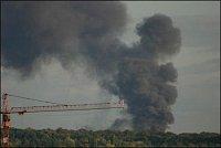 foto : Feuerwehr Frankfurt/zásah na dálnici - hořící cisterna/ výpomoc Fraport