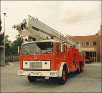 Stará plošina Skymonitor International od CFA – Dandenong Fire Brigade.