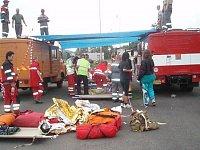 seřadiště raněných pro třídění k transportu do nemocnic