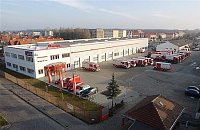 pohled na dnešní továrnu v Luckenwalde