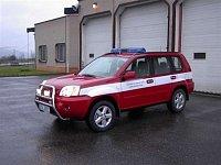 Velitelský automobil Nissan X-trail pro řídícího důstojníka požární stanice Ústí nad Orlicí