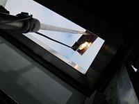 osvětlovací stožár - pohled z vnitřku nástavby