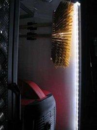 LEDka v detailu za platem