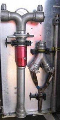 hydrantové příslušenství v držácích PAC na platě AS Fire