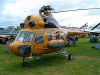 Armádní Mi-2 tr.č. 0715 ve zbarvení, v jakém sloužil v rámci LZS v Českých Budějovicích. Foto Jakub