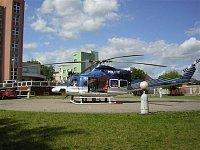 """Policejní Bell 412HP na nemocničním heliportu v Pardubicích, foto Michal Bareš, <a href=""""http://www."""