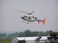 Vzlétající Bell 427 OK-EMI. Foto Pavel Nehybka
