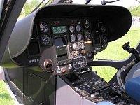 Přístrojová deska EC-135T1 OK-DSA, foto Pavel Nehybka.