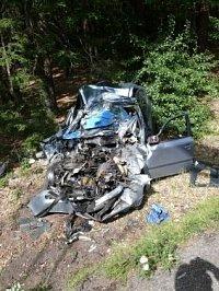 Zdemolovaná Škoda Octavia