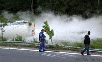 Nehoda cisterny u obce Petrovice