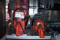 uložení rozbrusu a motorové pily