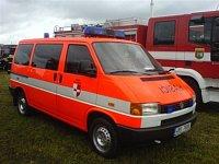Jeden z několika ex-policejních VW Transporter