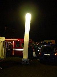 Nafukovací osvětlovací tubus - stánek VPO