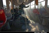 požár tramvaje, ul. Zenklova
