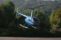 Robinson R44 zvenku...