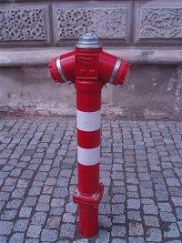 foto: Jana Bohuslavová, SDH Mělník-Blata, hydrant je v maďarském městě Esztergom