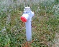 Nadzemní hydrant v nové výstavbě RD města PŘEŠTICE