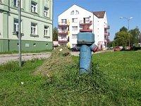 Veselí n.L., křižovatka ulic Čs.armády a Roháčova, foto Stanislav Kaisler
