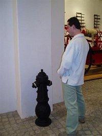 Foto: MatesHydrant v hasičském muzeu v Ostravě se strojníkem SDH