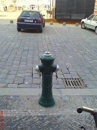 hydrant na Karlově náměstí v Kolíně, foto Oldřich Tomáš Staněk