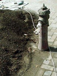 Velmi funkční hydrant ve městě Mukačevo na Ukrajině, foto kpt. Ing. Zdeněk Ráž, MV-GŘ HZS ČR