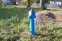 hydrant v obci Zbilidy, Vysočina
