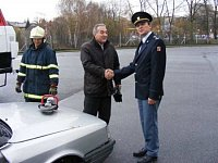 starosta města a ředitel hasičů