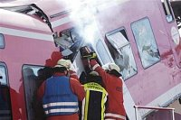 Goppingen Německo 2004 Srážka osobních vlaků