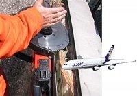 čistý řez trupu letadla DC9 bez nebezpečí požáru za pár minut