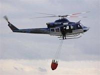 Přiblížení vrtulníku k plnícímu stanovišti LS. Bell-412EP, OK-BYP je nejmodernější kus ve výbavě pol
