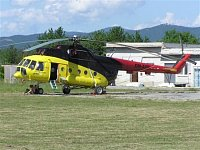 Vrtulník Mi-8, OM-AVP slovenské firmy UTAir. Foto Pavel Nehybka.