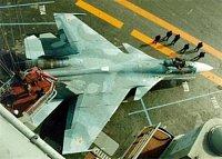 SU-27, nad ním další z pěnových lafet