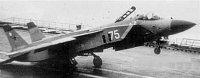 Jak-141 při kolmém startu
