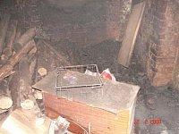 Požár odpadu v kotelně bytového domu v Polákových domech v Broumově – Velké Vsi