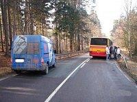Dopravní nehoda autobusu a dodávky